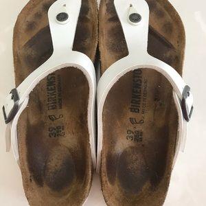 Birkenstock White Sandals Size 39